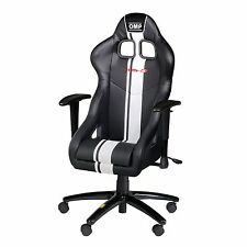 OMP TR-S Plus Racing Black Synthetic Leather Office Chair / Seat