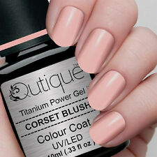 Qutique CORSET BLUSH Soak Off LED/UV Gel Nail Polish Colour -Light Pink