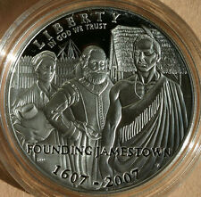 2007 Jamestown 400th Anniversary Proof 90% Silver Dollar Commemorative Coin ONLY