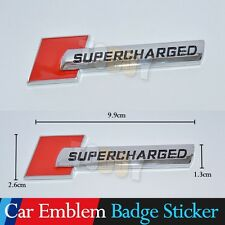 Car Sticker Supercharged Metal Logo Badge Emblem Decal Auto Special Universal