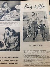 N1-6 Ephemera 1956 Article Folded Bill Hayes Singer 3 Pages Family Life