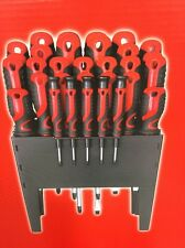 Craft Force 31 Pc Screwdriver Set With Storage Rack Philips Slotted Torch Prcsn