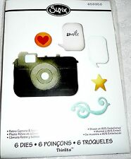 Sizzix Thinlits Craft Dies RETRO CAMERA & ICONS #658958