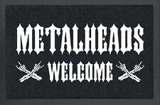 Fussmatte Metalheads Welcome Türmatte Fußabstreifer Schmutzmatte Fußmatte
