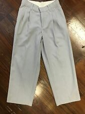 BOYS SIZE 8 REGULAR DRESS PANTS SOLID SILVER GRAY PLEATED FRONT PARTY WEDDING