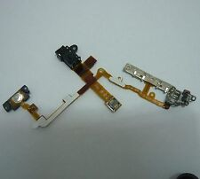 black Headphone Audio Jack Flex Cable with metal bracket assembly for iPhone 3GS
