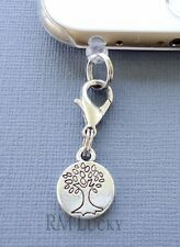 TREE OF LIFE cell phone Charm Anti Dust proof Plug ear cap jack For iPhone C217
