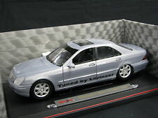 "Maisto Mercedes-Benz S-Class 1998 1:18 Silver ""Tuned by Lorinser"" (JS)"