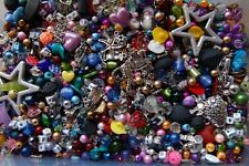 50 Grams OF MIXED BEADS GLASS TIBETAN SILVER FOILED ACRYLIC SEED FACETED - NEW