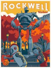 Steve Thomas ROCKWELL MA, PUMPKIN FEST Screen Print Poster IRON GIANT not Mondo