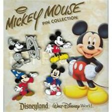 Disney Mickey Mouse Thru The Years 4 Pin Set- New on Card+ Sealed # 41386