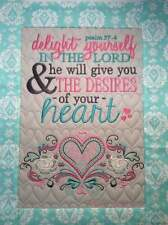 Christian Wall Hanging 12 x 14 Delight Yourself in the Lord Psalm 37:4