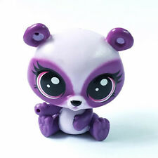 Littlest Pet Shop animal LPS purple Panda Bear Pet in the City figure Girls Toys