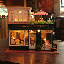 DIY Wooden Dollshouse Miniature Kit w/ LED & Music-Dollhouse Hallstatt/Furniture