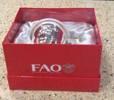 Keepsake Teddy Bear Sippy Cup Silverplate Babies R Us FAO Schwartz New In Box!