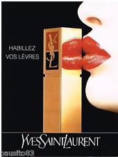 PUBLICITE ADVERTISING 095  1992  YVES SAINT LAURENT   maquillage rouge à lèvres