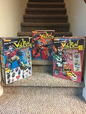 Voltron I, II and III (Car, Gladiator and Lion) - Matchbox 1984.  Complete Set.