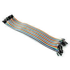 40PCS Dupont Wire Color Jumper Cable 2.54mm 1P-1P Male Female 30cm For Arduino