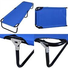 Blue Outdoor Portable Folding Camping Bed Military Cot Sleeping Hiking Travel US