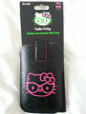HELLO KITTY Phone caso-cellulari e MP3 PORTATILE IPNONE Caso-Nero & Rosa UK