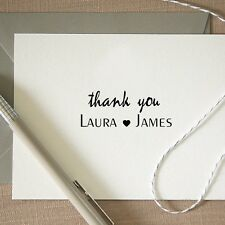 Personalized Custom Handle Mounted Rubber Stamp Thank You Card Wedding RE641