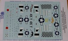 Microscale Decal 1:72 Scale #72-886 / P-47D Thunderbolt Bubble Tops: 506th FS/