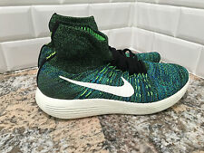 2016 MEN'S NIKE LUNAREPIC FLYKNIT SHOES GREEN BLACK 818676-003 SZ 11