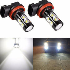 2 X H11 Super Bright 50W White 6000K Projection LED DRL Fog Light Bulb