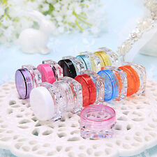 6Pcs Cosmetic Empty Jar Pot Makeup Tools Cream Lip Balm Travel Container Storage