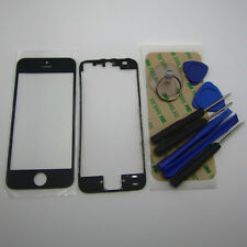 Black phone housing parts for IPhone 5 5G LCD digitizer screen front frame glass