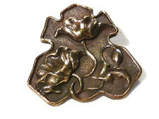 Collection bouton à queue ancien fleurs no 4  bronze XXème 20ème button
