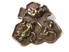 Collection bouton à queue ancien fleurs no 4  bronze XXème 20ème button