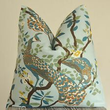 Peacock Pillow, Decorative Pillow,Throw Pillow, Dwell Studio, Handmade in USA