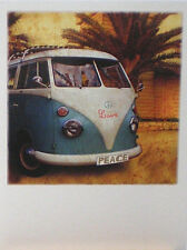 Postcard Art Card Love Hippies California VW Volkswagen Camper Oldies