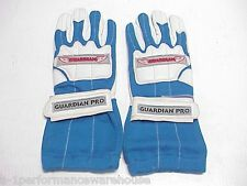 NEW Guardian Pro Blue Medium Double Layer Racing Gloves IMCA Go Kart Motorcycle
