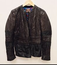 Roberto Cavalli Ladies Size 44 Black Leather Jacket