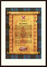 CLAN ANDERSON - Clan History, Tartan, Crest, Castle & Motto MOUNTED PRESENTATION