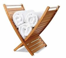 A GRADE TEAK TOWEL HOLDER RACK BATHROOM SPA POOL STORAGE OUTDOOR / INDOOR PATIO