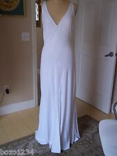 NEW FRIVOLE COUTURE  WHITE SLEEVELESS SHEATH WEDDING GOWN BRIDE  SZ 12 RET $1095