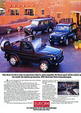 1997 Mercedes Benz G-Wagen G500 Europa Original Advertisement Car Print Ad J368