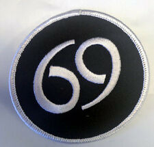 """3"""" Sexy 69 Funny SEX Position Black White Iron on Patch Applique On Hat Vest"""