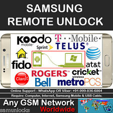 FACTORY UNLOCK CODE SERVICE SAMSUNG GALAXY S2 S3 S4 S5 NOTE 1 2 3 4 T-MOBILE USA