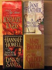 Rosemary Rogers, Jane Feather, Mary Balogh, Hannah Howell, Mixed Lot, Lot Of 4