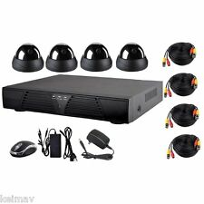 Dome CCTV Package with 4 Channel DVR Surveillance Security Camera System