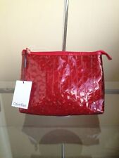 bagsclothesetc: NWT CALVIN KLEIN Cosmetic Pouch / Toiletry Case - Red FREE SHIP
