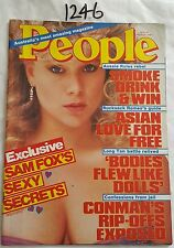 PEOPLE MAGASINE 1986 AUG 18,SAMANTHA FOX COVER,*NEAR MINT*