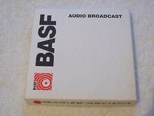 1 x Brand New BASF 5in 1/4in Wide Audio Broadcast Reel To Reel Tape
