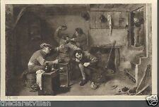 Adriaen Brouwer Raufende Kartenspieler  Fighting Card Players Old Unposted Postc