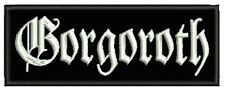 GORGOROTH EMBROIDERED PATCH EMPEROR DIMMU BORGIR IMMORTAL ENTHRONED Metal Negro