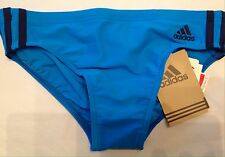 Adidas Boys Swimming Trunks Briefs Uk Size 28 Extra Small Turquoise / White New